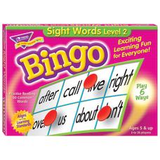 Trend Sight Words Level 2 Bingo