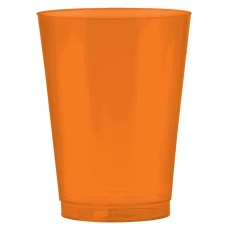 Amscan Plastic Cups 10 Oz Orange