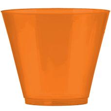 Amscan Plastic Cups 9 Oz Orange
