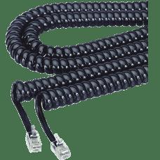 Softalk Coiled Phone Cord 12 Black