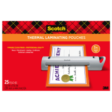 Scotch Thermal Laminating Pouches 11 12