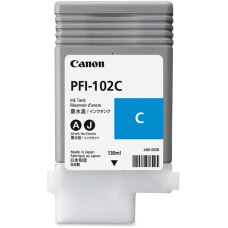 Canon PFI 102C Cyan Ink Cartridge