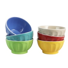 Gibson Home Color Fun Cereal Bowls