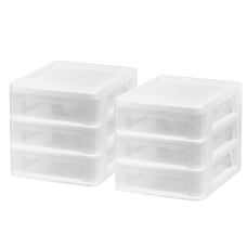 Iris Plastic 3 Drawer Desk Organizers