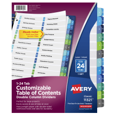 Avery Ready Index 20percent Recycled Double