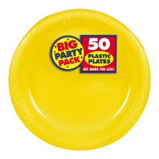 Amscan Plastic Dessert Plates 7 Sunshine