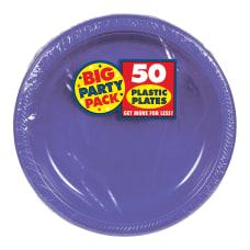 Amscan Plastic Dessert Plates 7 Purple