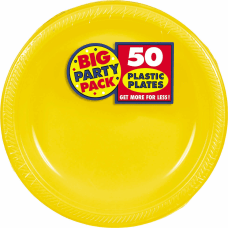 Amscan Plastic Plates 10 14 Sunshine