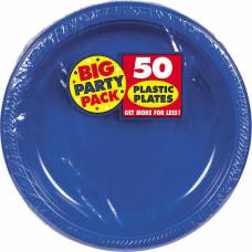 Amscan Plastic Plates 10 14 Royal