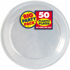 Amscan Plastic Plates 10 14 Clear