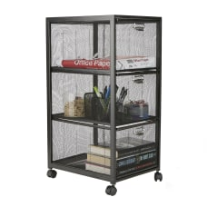 Mind Reader Metal Mesh 3 Drawer
