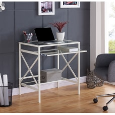 Southern Enterprises Elvan Metal Glass Desk