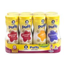 Gerber Puffs Cereal Snacks Assorted 148