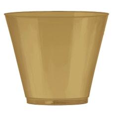Amscan Plastic Tumblers 9 Oz Gold