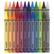 Office Depot Brand Crayons Assorted Colors