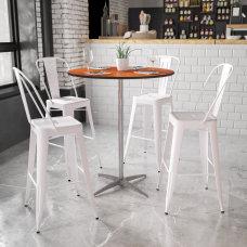 Flash Furniture 36 Round Wood Cocktail