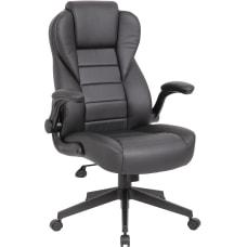 Boss Office Products Ergonomic LeatherPlus High