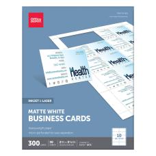 Office Depot Brand Matte Business Cards