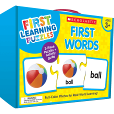 Scholastic First Learning First Words Puzzles