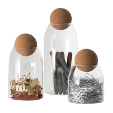 Cork Top Dispenser Set Of 3
