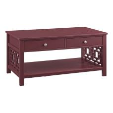 Linon Walsh 2 Drawer Coffee Table