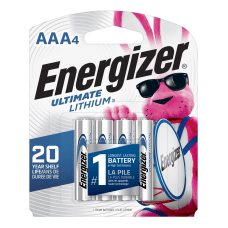 Energizer Photo Ultimate AAA Lithium Batteries