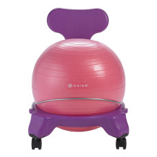 Gaiam Kids Balance Ball Chair PinkPurple