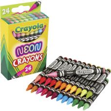 Crayola Neon Crayons Neon 24 Pack