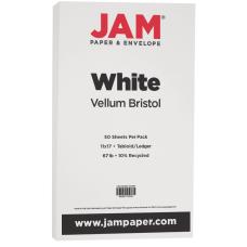 JAM Paper Vellum Bristol Card Stock