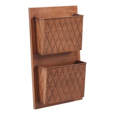 Linon Rio 2 Slot Wall Mailbox