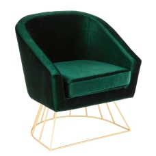 LumiSource Canary Tub Chair GoldEmerald Green