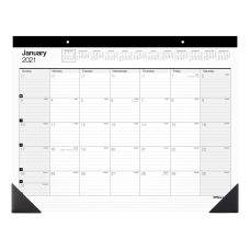 Office Depot Monthly Desk Pad Calendar