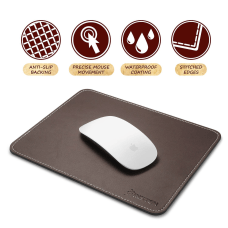 Brown Leather Mouse Pad With Anti