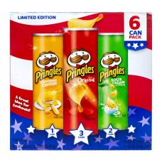 Pringles Red White Blue Potato Crisps