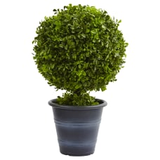Nearly Natural 23 H Plastic Boxwood
