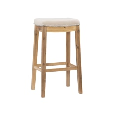 Linon Walker Backless Bar Stool Rustic