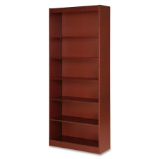 Lorell Veneer Bookcase 6 Shelf 84