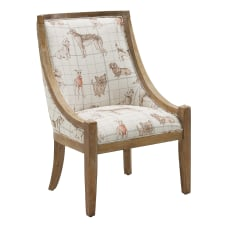 Linon Romilly Dog Accent Chair Rustic