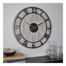 FirsTime Co Finley Planks Wall Clock
