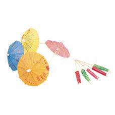 Parasol Bamboo Drink Umbrellas Assorted Colors