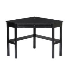 Southern Enterprises Corner Computer Desk Black