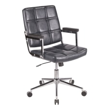 LumiSource Bureau Contemporary Office Chair NavyChrome