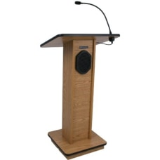 AmpliVox Sound System Elite Lectern Rectangle