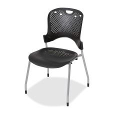 Balt Circulation Armless Stacking Chairs Black