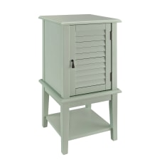 Powell Tobias Shutter Door Side Table