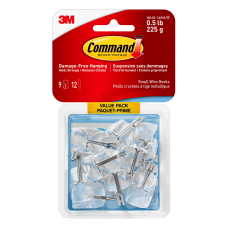 3M Command Wire Hooks Small Clear