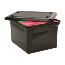 Advantus Storage File Tote With Lid