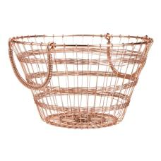 Mind Reader Round Basket With Handles