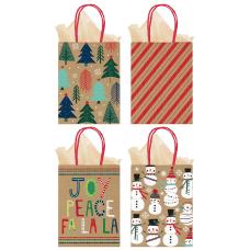 Amscan Christmas Medium Vertical Gift Bags