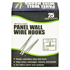 Advantus Panel Wall Wire Hooks Silver